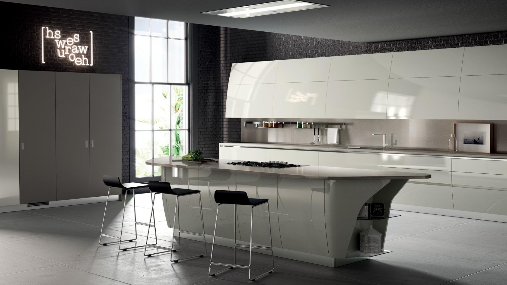 Cucina Moderna Scavolini Flux Swing-mobili incardone