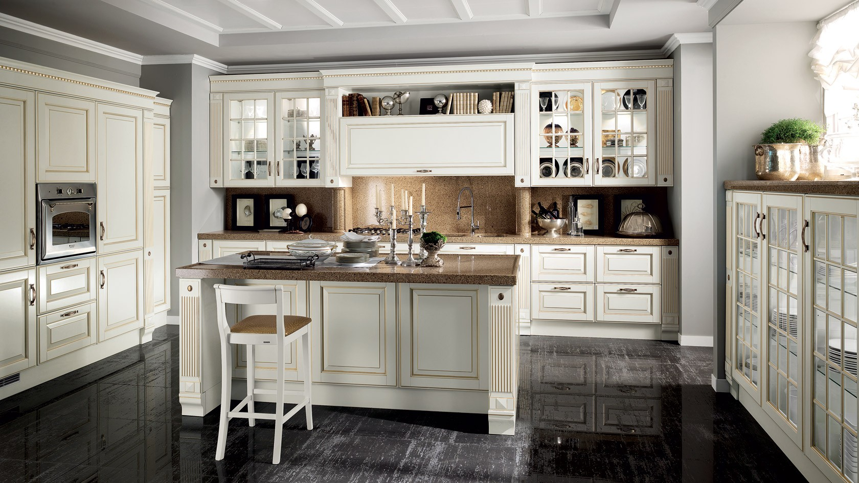 Cucina Classica Scavolini Baltimora-Mobili Incardone